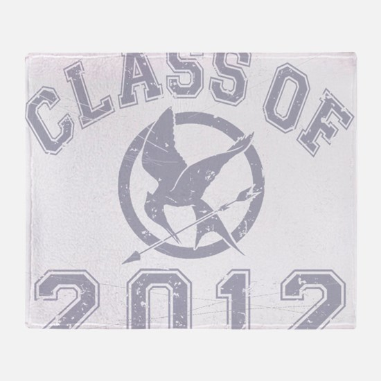 Class Of 2012 Hunger Game - Grey 2 Throw Blanket