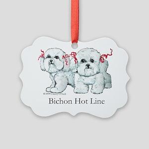 Bichon 2009 hot line Picture Ornament