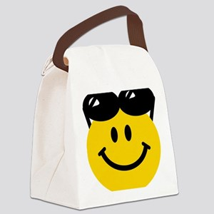 Perched Sunglasses Smiley Canvas Lunch Bag