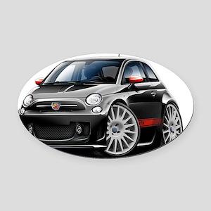Fiat 500 Abarth Black Car Oval Car Magnet