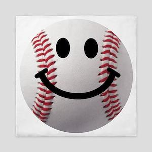 Baseball Smiley Queen Duvet