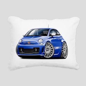 Fiat 500 Abarth Blue Car Rectangular Canvas Pillow