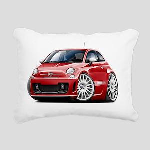 Fiat 500 Abarth Red Car Rectangular Canvas Pillow