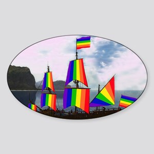 Gay Navigator – 2 Sticker (Oval)