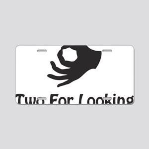 twoforlooking Aluminum License Plate