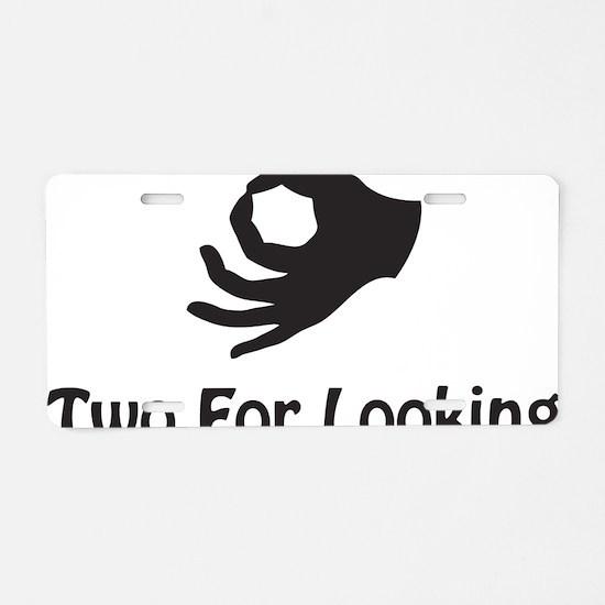 twoforlooking Aluminum License Plate