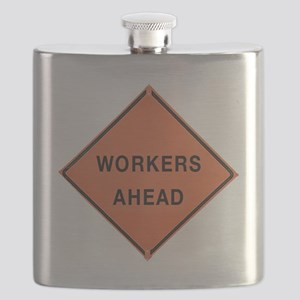 ROAD SIGN: Workers Ahead Flask