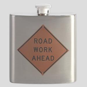ROAD SIGN: Road Work Ahead Flask
