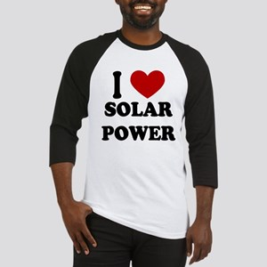 I Heart Solar Power Baseball Jersey