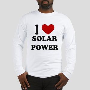 I Heart Solar Power Long Sleeve T-Shirt
