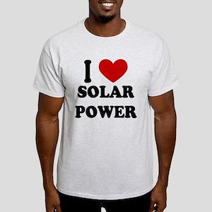 I Heart Solar Power Light T-Shirt