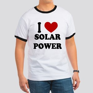 I Heart Solar Power Ringer T