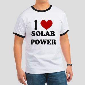 I Heart Solar Power Ringer T