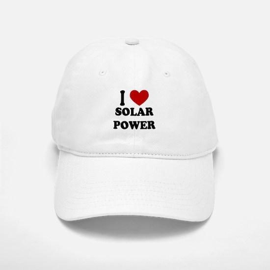 I Heart Solar Power Baseball Baseball Cap