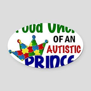 D Proud Uncle Autistic Prince Oval Car Magnet