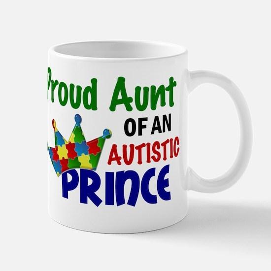 D Proud Aunt Autistic Prince Mug