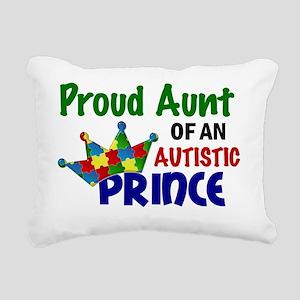 D Proud Aunt Autistic Pr Rectangular Canvas Pillow