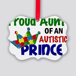 D Proud Aunt Autistic Prince Picture Ornament