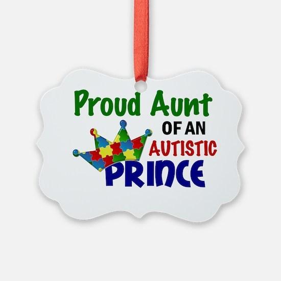 D Proud Aunt Autistic Prince Ornament