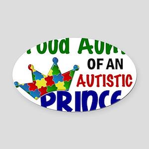 D Proud Aunt Autistic Prince Oval Car Magnet