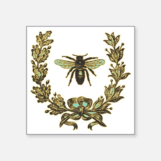 "vint-bee Square Sticker 3"" x 3"""