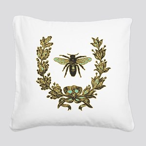 vint-bee Square Canvas Pillow