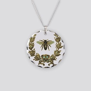 vint-bee Necklace Circle Charm