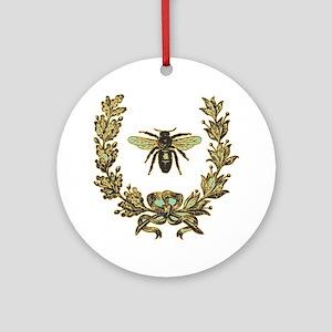 vint-bee Round Ornament