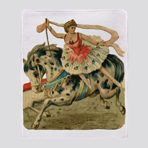 vint-horsegirl Throw Blanket