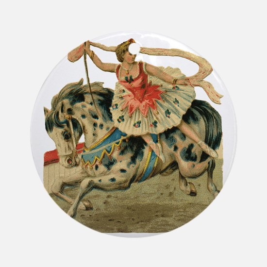 vint-horsegirl Round Ornament