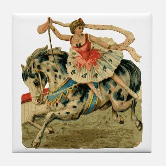 vint-horsegirl Tile Coaster