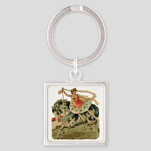 vint-horsegirl Square Keychain