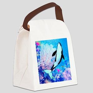 aqu_shower_curtain Canvas Lunch Bag