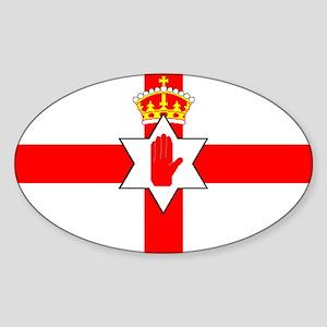 Northern Ireland United Kingdom fla Sticker (Oval)