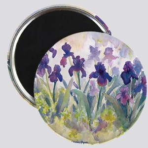 SQ Purp Irises for CP shower curtain Magnet