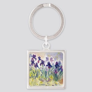 SQ Purp Irises for CP shower curta Square Keychain