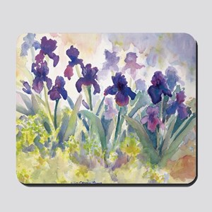 SQ Purp Irises for CP shower curtain Mousepad