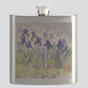 SQ Purp Irises for CP shower curtain Flask