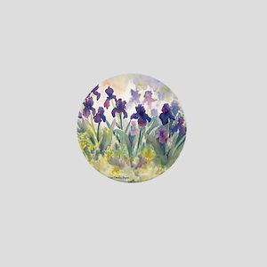 SQ Purp Irises for CP shower curtain Mini Button