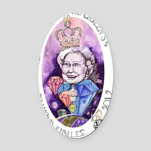 Diamond Jubilee | Queen Elizabeth  Oval Car Magnet