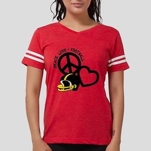 blackyellow, Peace, Love, Football h T-Shirt
