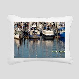 Sitka-AK-boats Rectangular Canvas Pillow