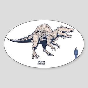 spinosaur2-LTT Sticker (Oval)