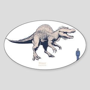 spinosaur2-DKT Sticker (Oval)