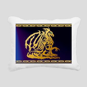 Yardsign  Gold Dragon1 Rectangular Canvas Pillow