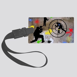 Paintball Aim Pillow Large Luggage Tag