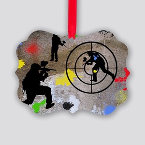 Paintball Aim Pillow Picture Ornament