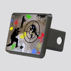 Paintball Aim Pillow Rectangular Hitch Cover
