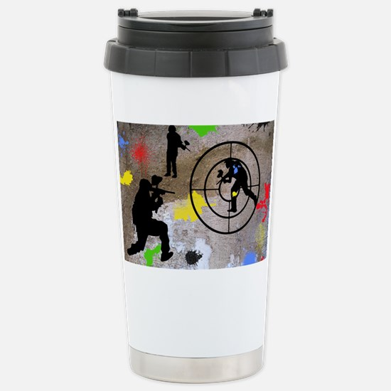 Paintball Aim Pillow Stainless Steel Travel Mug