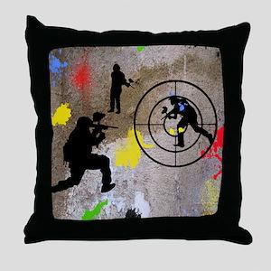pAINTBALL aIM TWIN Throw Pillow